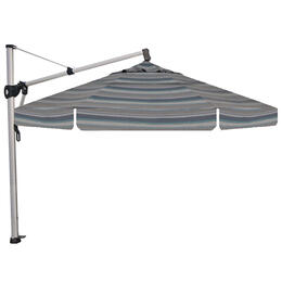 Treasure Garden 13' AKZ Cantilever Trusted Coast Stripe Octagon Umbrella