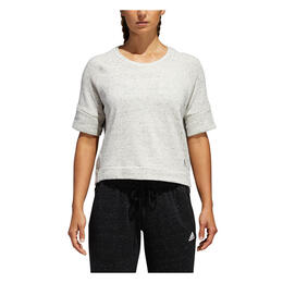 Adidas Women's S2S Short Sleeve Top White Melange