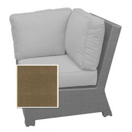 North Cape Cabo Sectional Corner Cushion - Canvas Taupe W/ Linen Canvas Welt