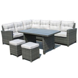 Alfresco Home Luisa Wicker Sectional Group with Cushions