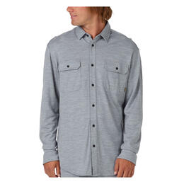 Burton Men's Midweight Merino Button Up Long Sleeve Shirt