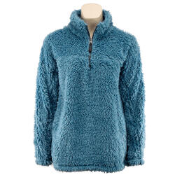 Dylan by True Grit Women's Ultra Soft Sherpa Zip Pull Sweater