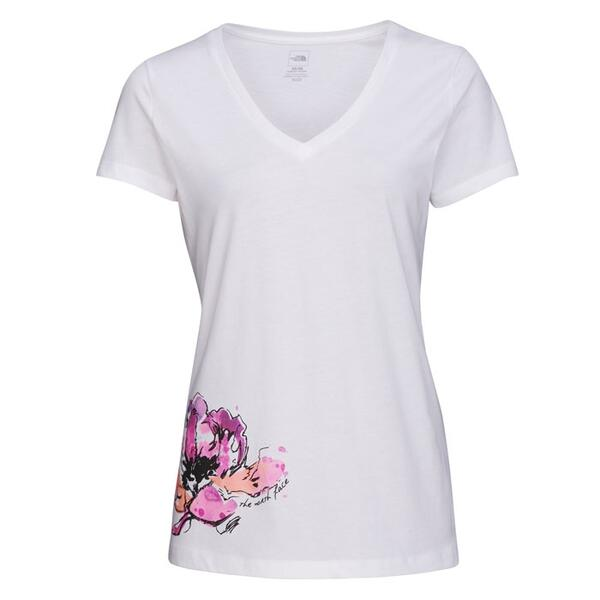The North Face Women's Indoflora V-neck Shortsleeve Tee