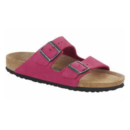Birkenstock Women's Arizona Soft Pink Nubuck Sandals