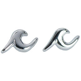 Pura Vida Bracelets Women's Silver Wave Stud Earrings