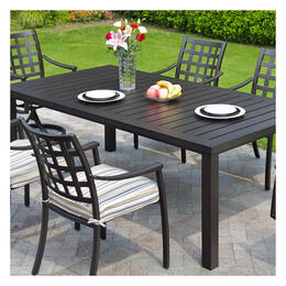 Hanamint Stratford Terra Mist Square Table 9-Piece Dining Set