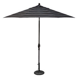 Treasure Garden 9' Auto Tilt Umbrella - Black with Peyton Granite Stripe