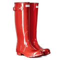 Hunter Women's Original Tall Gloss Rain Boots Military Red alt image view 2