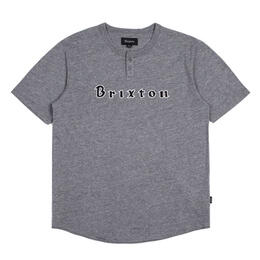 Brixton Men's Proxy Henley Short Sleeve T-shirt