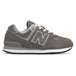 New Balance Kids' 574 Core Grey Running Shoes