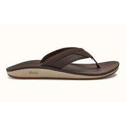 OluKai Men's Nohona Casual Sandals Dark Wood