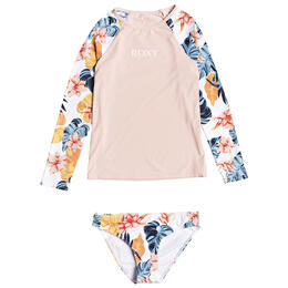 Roxy Girls's Beautiful Mind Long Sleeve Rashguard Set