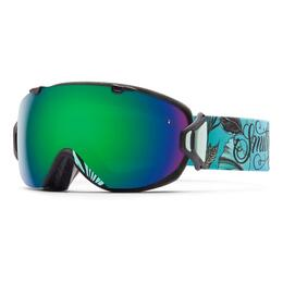 Smith Women's I/O S Snow Goggles With Green Sol X/Red Sensor Lenses