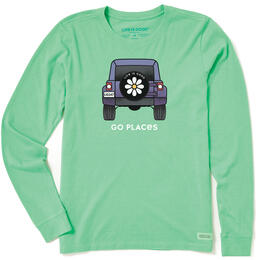 Life Is Good Women's Go Places Crusher Long Sleeve Shirt