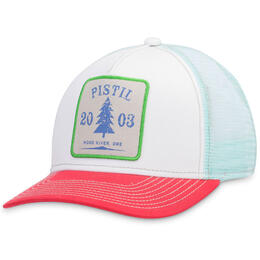 Pistil Designs Women's Burnside Logo Patch Trucker Hat