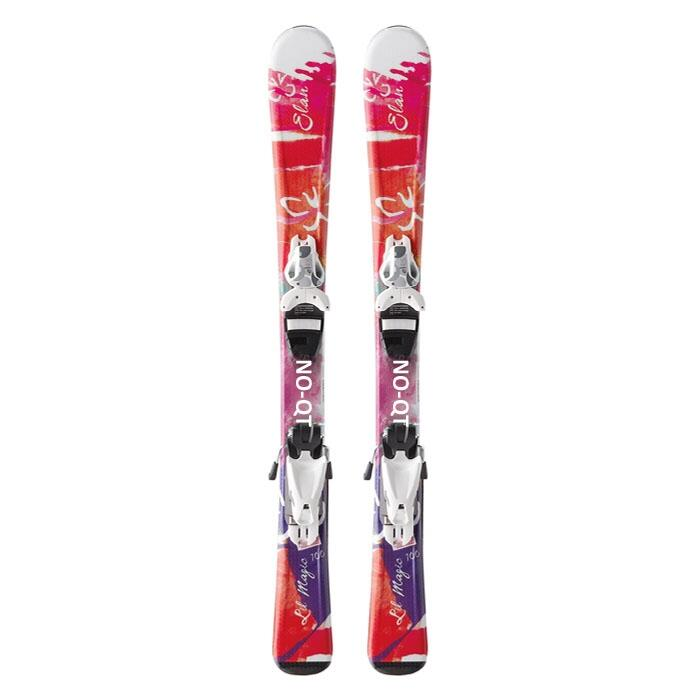 Elan Girl's Lil' Magic Junior Skis with EL 4.5 (Non-QT) Bindings '14