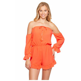 Salt And Jade Women's Crinkle Treasure Off The Shoulder Romper