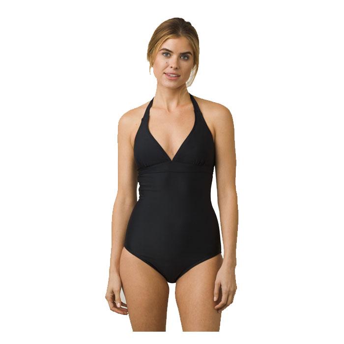 prAna Women's Lahari Halter One Piece Swimsuit Black