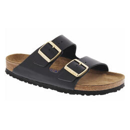 Birkenstock Women's Arizona Soft Black Leather Sandals