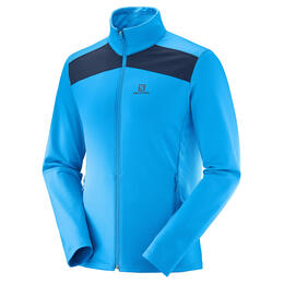 Salomon Men's Discovery Light Full Zip Top, Hawaiian/Night Sky