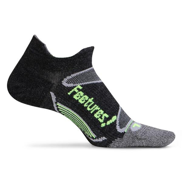 Feetures Men's Elite Merino Light No Show Tab Socks