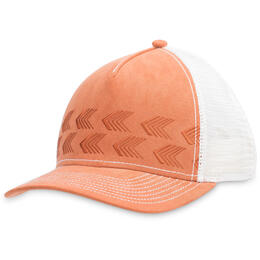 Pistil Designs Women's Kirby Arrows Suede Trucker Hat