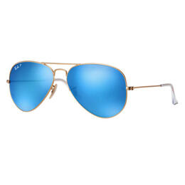 Ray-Ban Aviator Classic Sunglasses With Blue Polarized Lenses