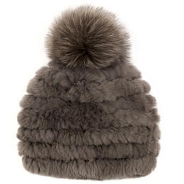 Mitchie's Matchings Women's Knitted Rabbit Fur Hat