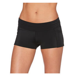 Jag Sport Women's Boyleg Pocket Swim Bottoms Black