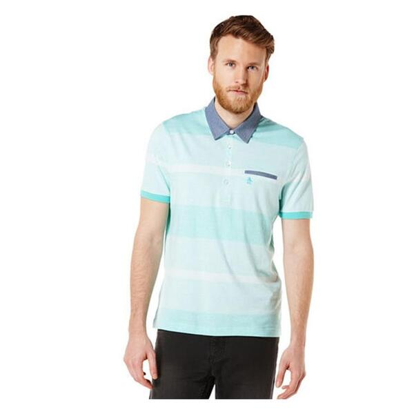 Original Penguin Men's Striped Cham Polo Shirt