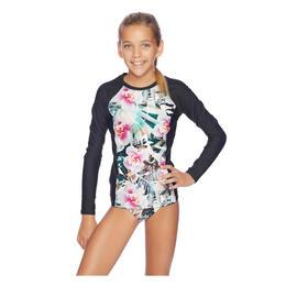 0c70bd2e35804 Next By Athena Girl's Undercover Tropics Long Sleeve Rashguard Swim Set