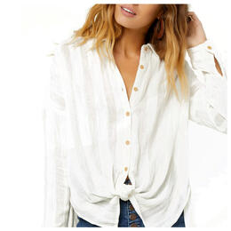 O'neill Women's Aria Woven Long Sleeve Button Up Shirt