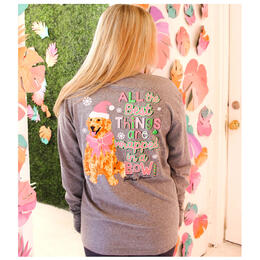 Jadelynn Brooke Women's All the Best Things Come Wrapped in a Bow Longsleeve Tee