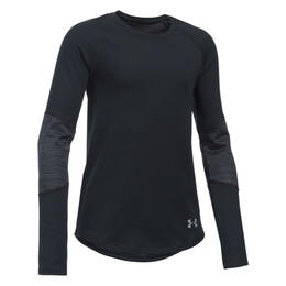 Under Armour Girl's ColdGear Infrared Mock Long Sleeve Shirt