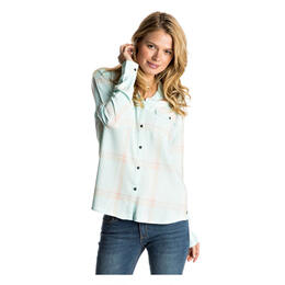 Roxy Women's Plaid On You Long Sleeve Shirt