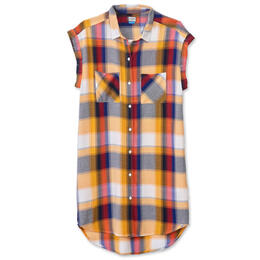 KAVU Women's Makayla Plaid Camp Dress