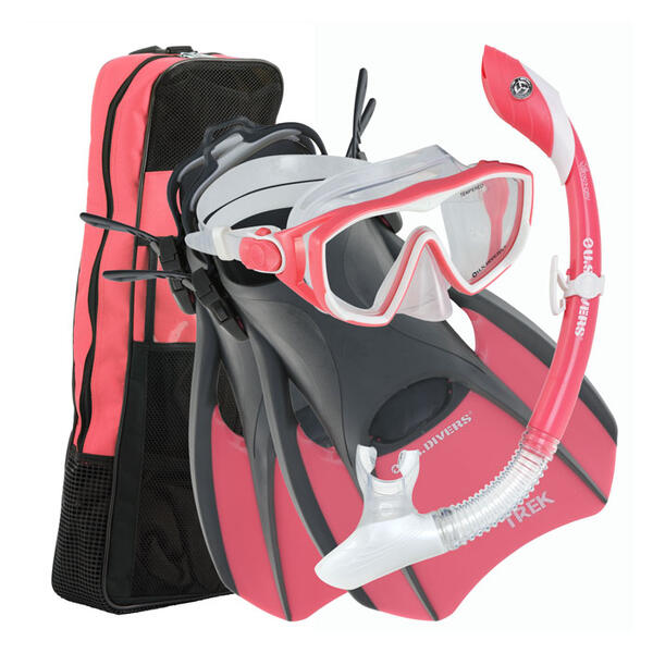 U.S. Divers Women's Diva LX Snorkel Set