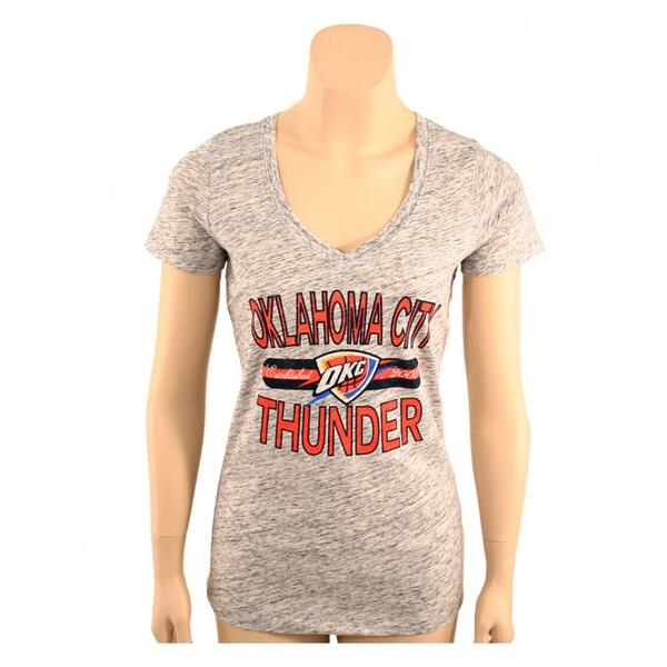 47 Brand Women's Okc Thunder V-neck Tee Shirt