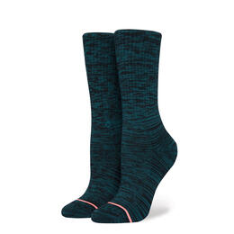 Stance Women's Uncommon Classic Teal Crew Socks