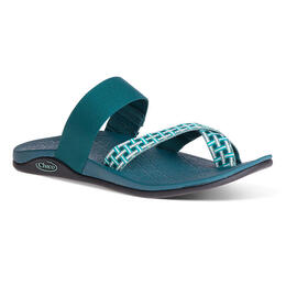 Chaco Women's Tetra Cloud Casual Sandals Madras Teal