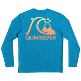 Quiksilver Boys' Heritage Surf Heather Long Sleeve Rashguard