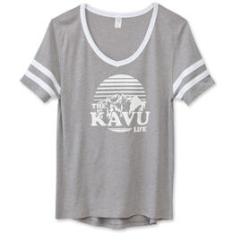 KAVU Women's Partee V-Neck Tee Shirt