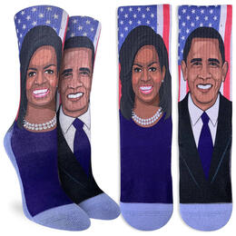 Good Luck Socks Women's Michelle & Barack Obama Socks