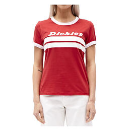 Dickies Girl Women's Chest Stripe Short Sleeve Ringer T Shirt