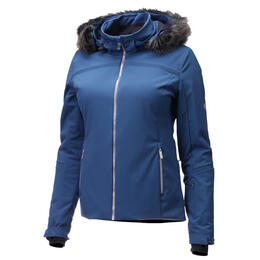 Descente Women's Charlotte Insulated Jacket With Faux Fur Trim
