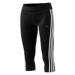 Adidas Women's D2M 3 Stripe 3/4 Leggings