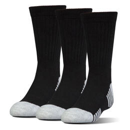 Under Armour Men's HeatGear Tech Crew Socks 3 Pack Black