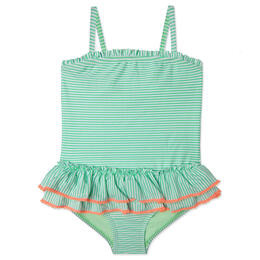 Hula Star Girl's Sailor Stripe One Piece