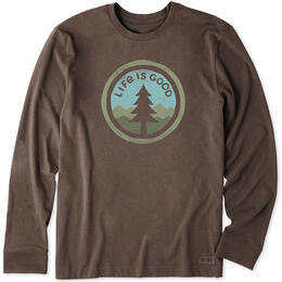 Life Is Good Men's Tree Coin Crusher Long Sleeve Tee Shirt