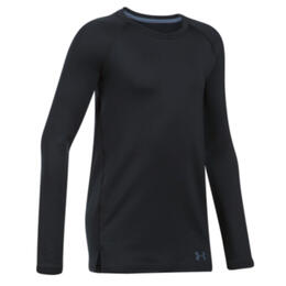 Under Armour Girl's Coldgear Armour Fitted Long Sleeve Crew Neck